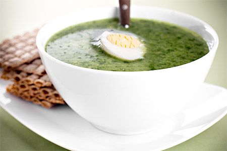 Klassisk enkel spenatsoppa med ägg - Spinach soup with egg (Swedish recipe)