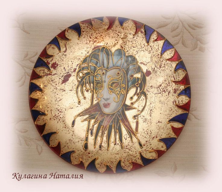 "Декупаж - Сайт любителей декупажа - DCPG.RU   Тарелка ""Маска"" Click on photo to see more! Нажмите на фото чтобы увидеть больше! decoupage art craft handmade home decor DIY do it yourself plate"