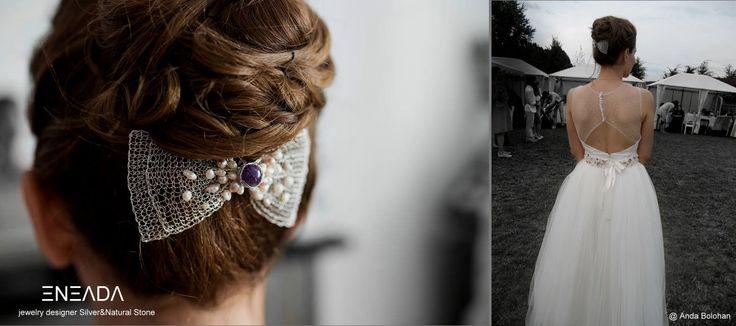 Wedding Hair Accessory #SilverPlated #wedding #WeddingDress #EneadaJewelry