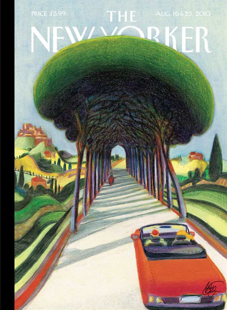 La Belle Illustration: Lorenzo Mattotti, The New Yorker, couverture, 16 août 2010