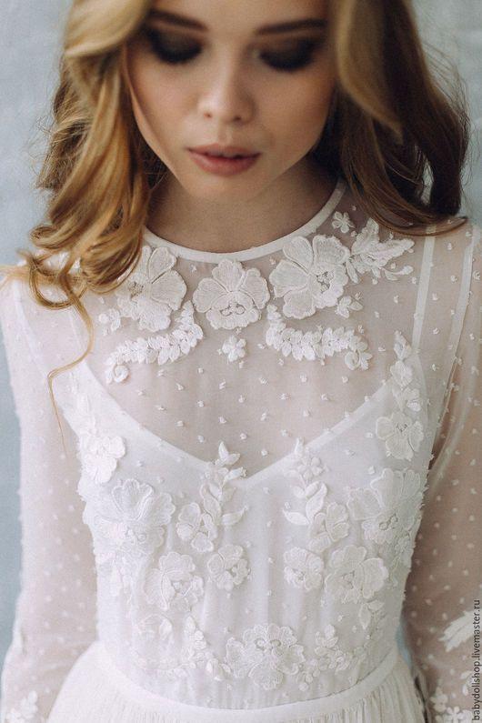 Одежда и аксессуары ручной работы. Платье SS17 , свадебное платье, белое платье, кружевное платье. Baby-Doll Shop. Ярмарка Мастеров.
