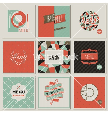 Restaurant menu designs - retro-styled collection vector