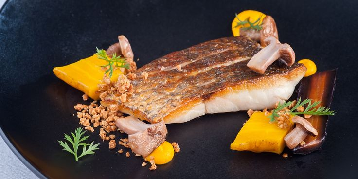 Chef Matt Worswick's great recipe for seared sea bass with delicious salt-baked heritage carrots.