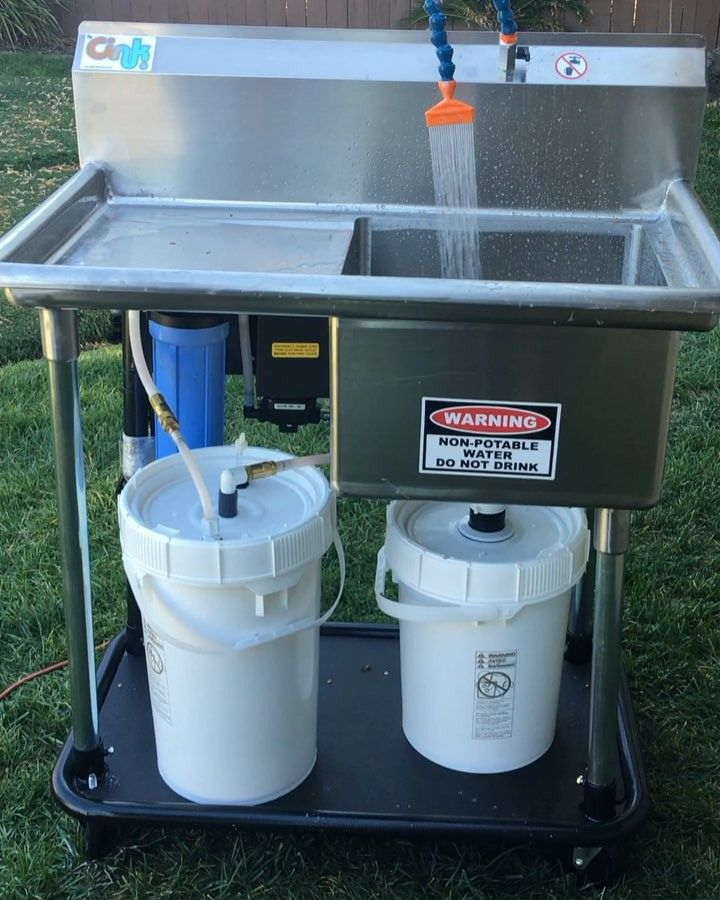 The Cink Portable Clay Water Filtering Recycling System Recycling Outdoor Sinks Portable Sink