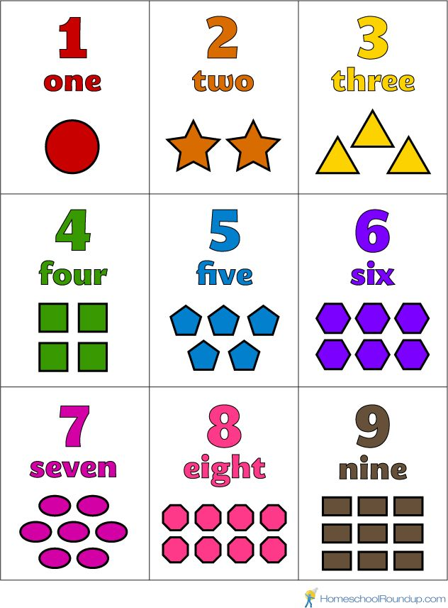Free Printable Preschool Number Flash Cards