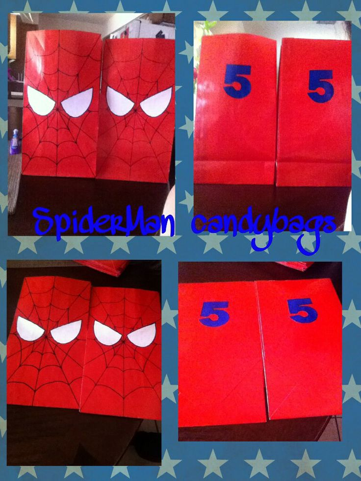 Spider-man candybags 5th bday party :)