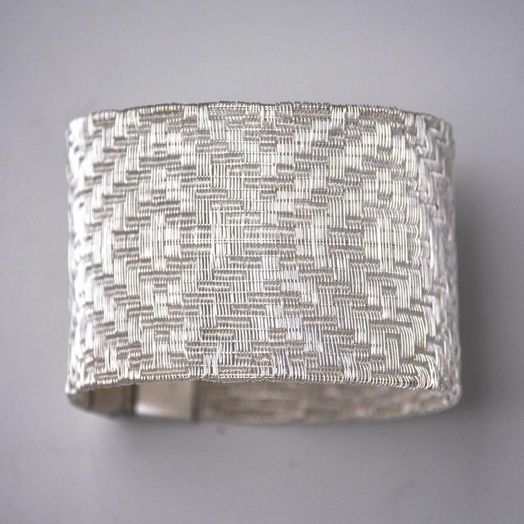 "Bracelet | Lilia Breyter.  ""Colección Texturas"".  With refined strands of fine silver she obtains different textures, soft as silk and resistant and permanent as the noble metal she weaves. 
