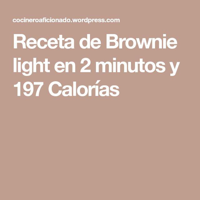 Receta de Brownie light en 2 minutos y 197 Calorías