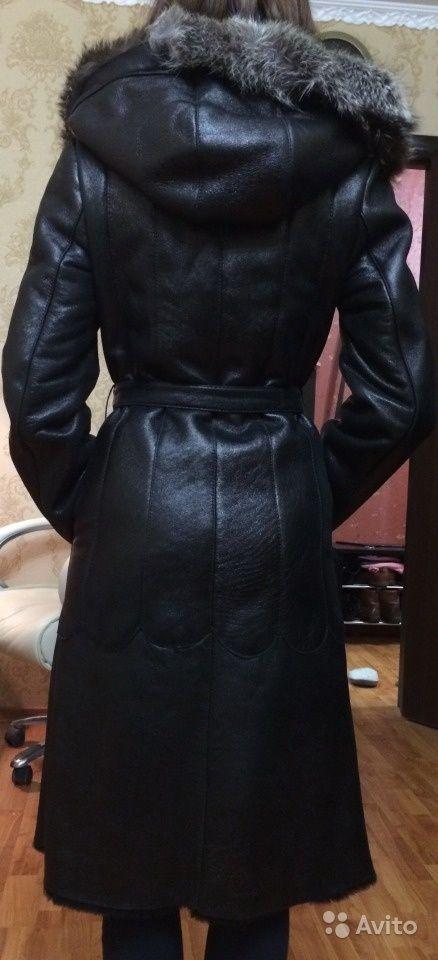 Дубленка черная женская в идеальном состоянии — фотография №2