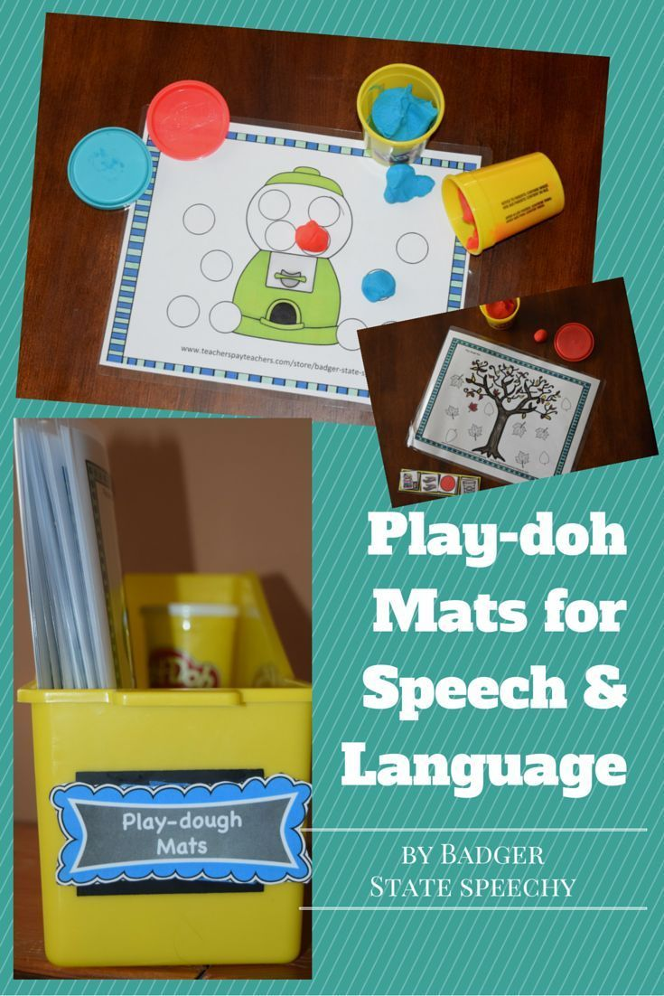 $ Seasonal and themed play doh mats for open-ended speech (and language) activities!