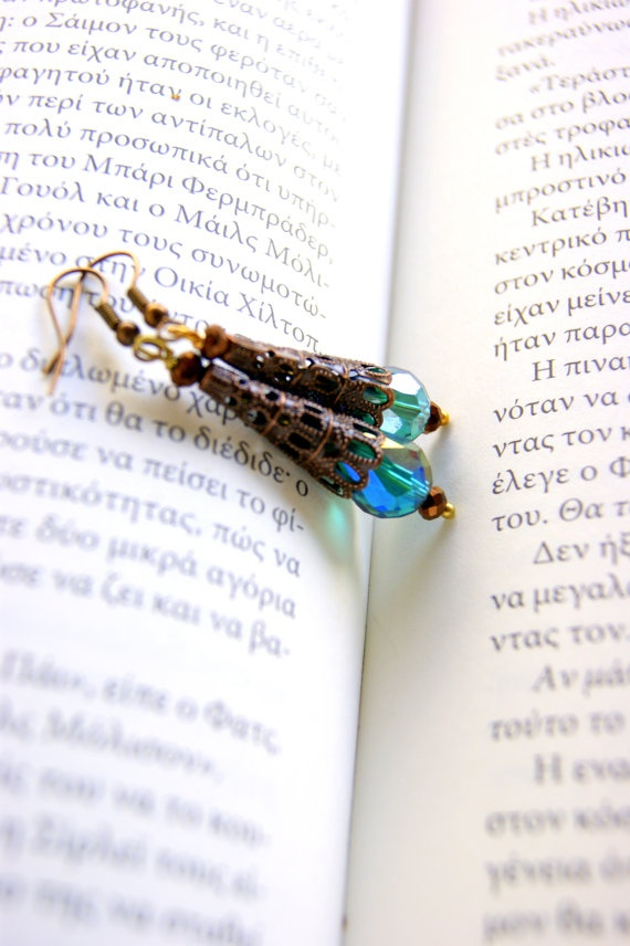Antique Theodora's cone earrings by RenatasArt on Etsy, €12.00