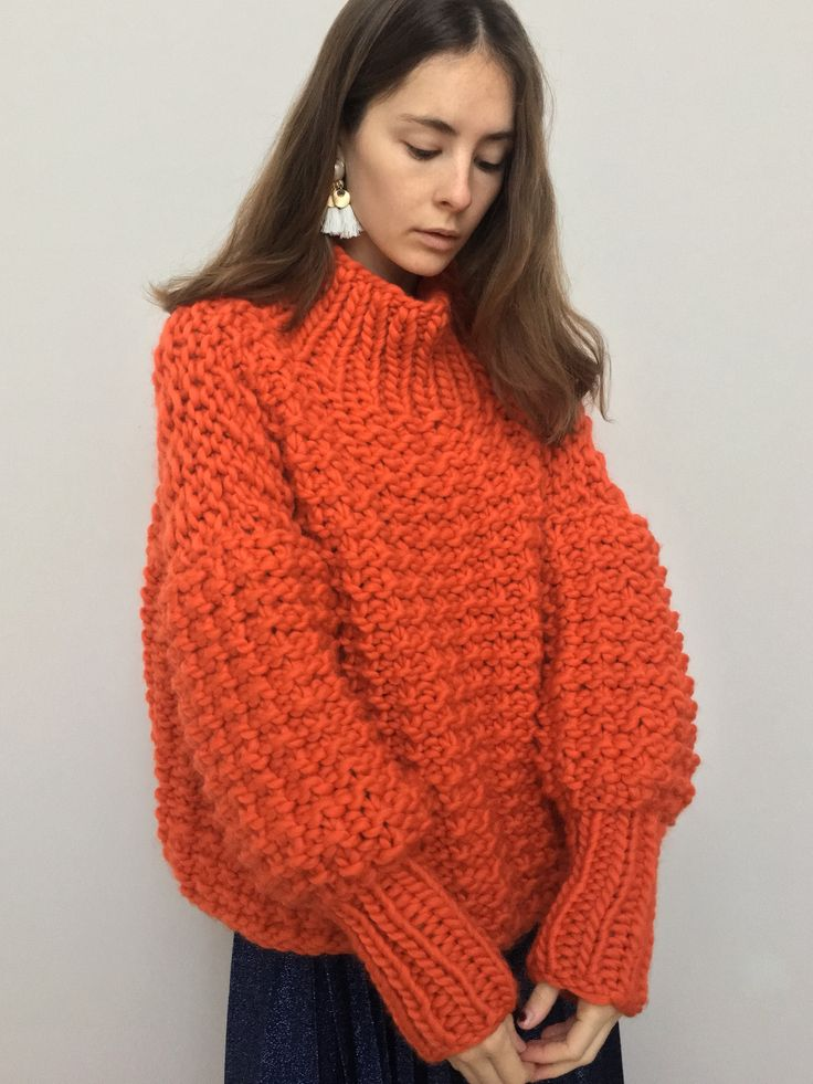 THE MR RIBBLY: You will never have cold hands again. Each piece is oversized (one size fits all) and knitted using one hundred percent, super soft, wool mmmmm | The Knitter | makersmgmt.com/shop
