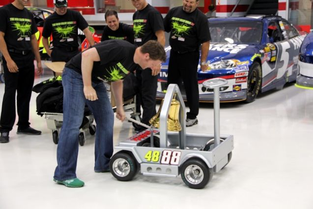 Dales Turn :-)  PHOTOS (June 20, 2012): Earnhardt continues Victory Bell tradition. More: www.hendrickmotor....