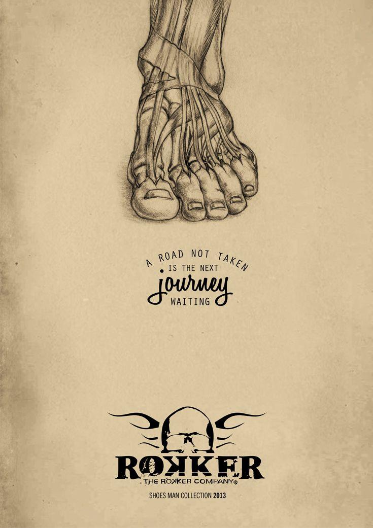 Campagna pubblicitaria Rokker, creata da #effADV - #advertising campaign created by effADV - #ad #adv #shoes #trend #design #graphicdesign