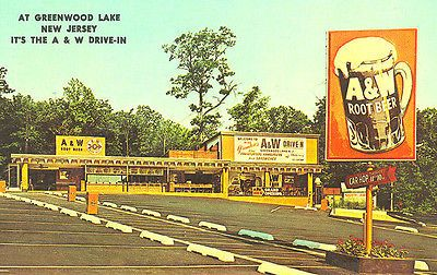 Used to go to this A&W in West Milford NJ/Greenwood Lake NJ. A&W Root Beer Drive in Restaurant Car Hop Service Photograph | eBay