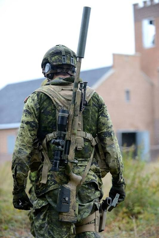 Canadian sniper on the Gromingen UO Village obstacle course during the 17th Annual Canadian International Sniper Concentration at the 5th Ca...