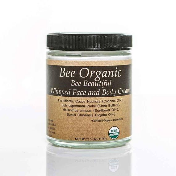 Bee Beautiful Whipped Face Cream is the best, softest, most pure moisturizer that you can put on your face. Help turn the clock back on aging and fight fine lines and wrinkles. Use as an everyday moisturizer. USDA Certified Organic Bee Beautiful USDA Certified 100% Organic Face Cream