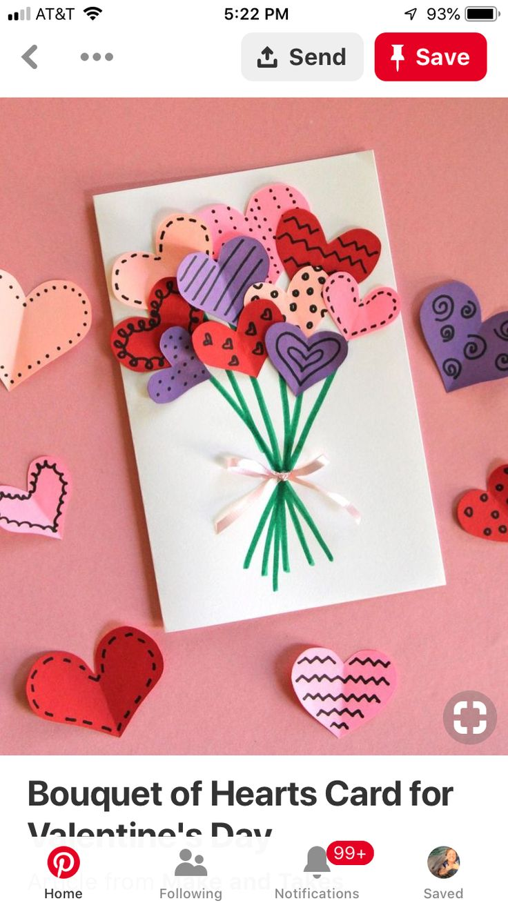 creative valentines day card - HD 850×1101