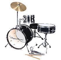 Spectrum AIL 652BK – 3 Piece Junior Drum Set – Midnight Black Finish