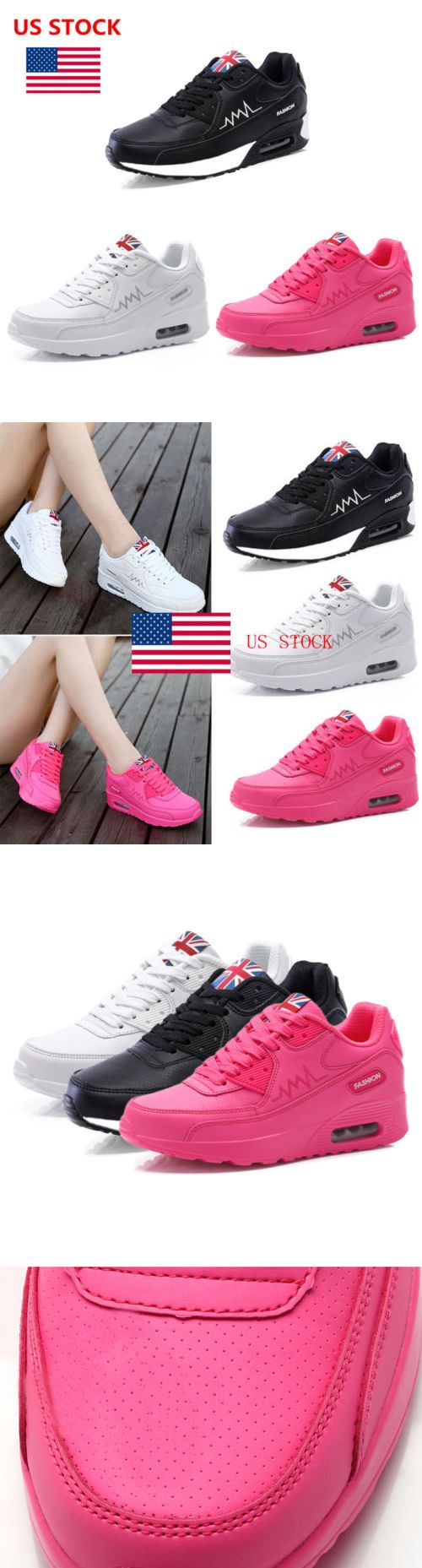 Athletic 95672: Us Womens Ladies Running Trainers Sports Walking Shoes Casual Breathing Sneakers -> BUY IT NOW ONLY: $31.07 on eBay!