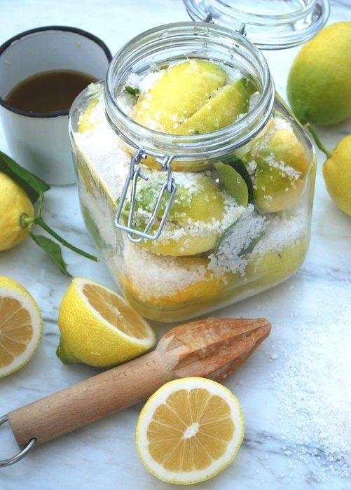 Salted lemons: Salted Lemons, Jam Preserves Pickles, Lemons Preserves, Preserve Lemon, Lemon Recipe, Food, Lemon Preserve, Canning Lemon