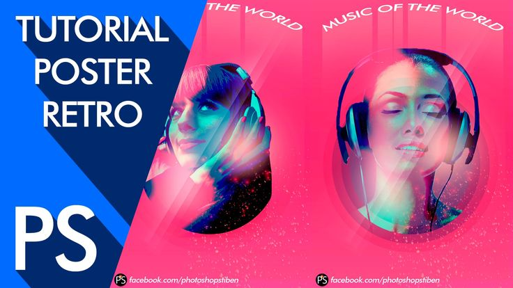 Tutorial Photoshop: Crear un poster estilo retro by @photoshopstiben