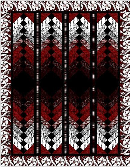 french braid quilt | French Braid quilt in red, black and white | Quilts!!