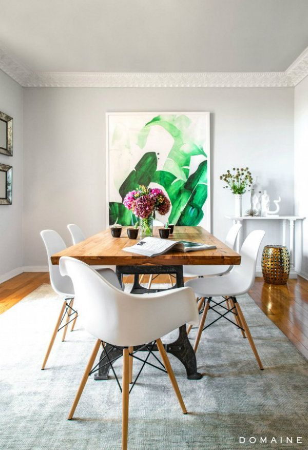Banana Leaf Print Decor For The Home. 81 best Dining Rooms images on Pinterest   Dining area  At home