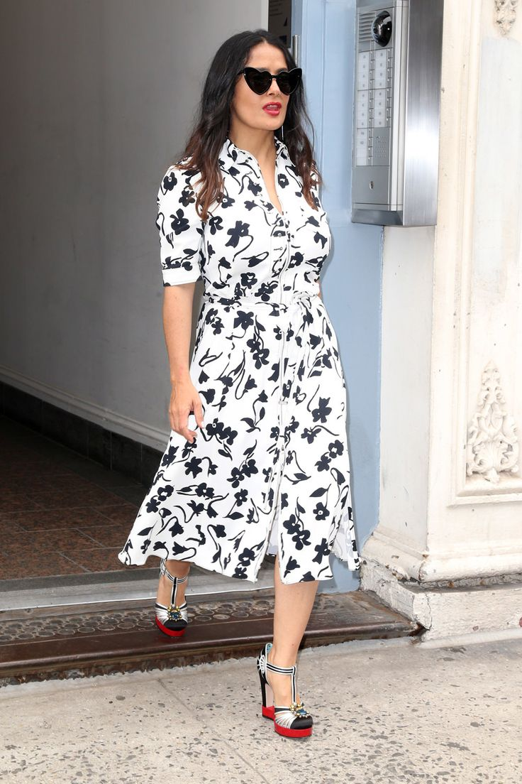 Style File: Salma Hayek Snags a Cute Altuzarra and Relapses with Gucci   Tom + Lorenzo