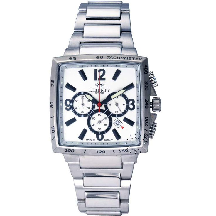LIBERTY New York Chronograph Stainless Steel Bracelet Τιμή: 225€ Τιμή Προσφοράς: 90€ http://www.oroloi.gr/product_info.php?products_id=20249