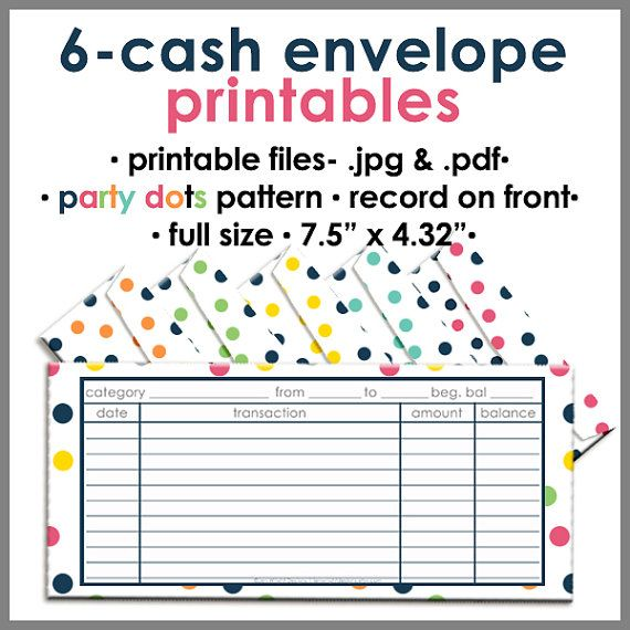 Dave Ramsey inspired Printable Blank Cash Envelope Budgeting System by jenwrightdesigns