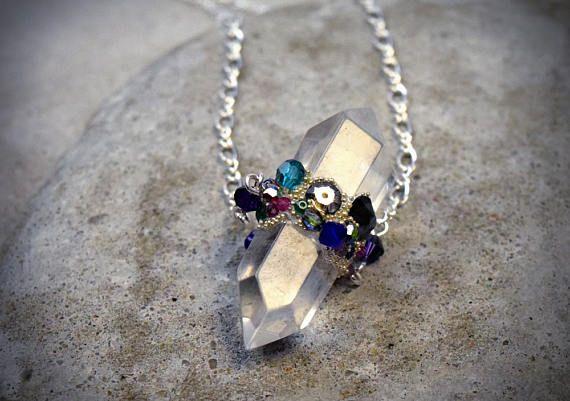 Hey, I found this really awesome Etsy listing at https://www.etsy.com/au/listing/517972306/herkimer-crystal-quartz-shard-pendant