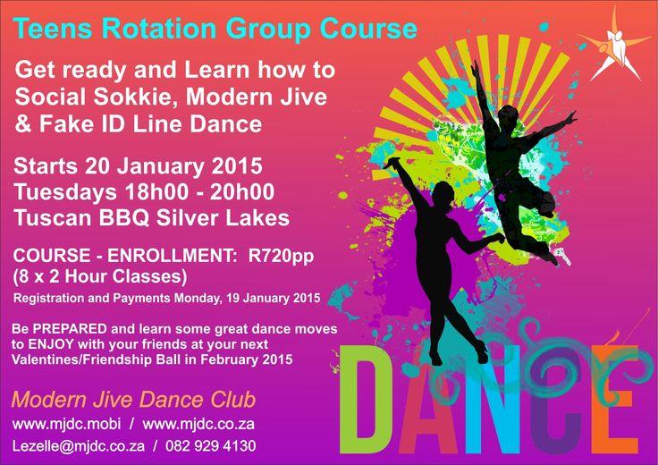 Teens 1st Term Dance Course Starts Tuesday, 20 JANUARY 2015 www.mjdc.co.za