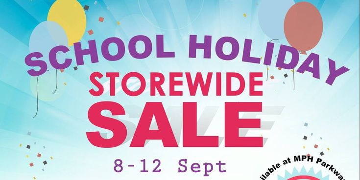 MPH Bookstores Singapore School Holiday Storewide Sale 20% Off Promotion 8 to 12 Sep 2016