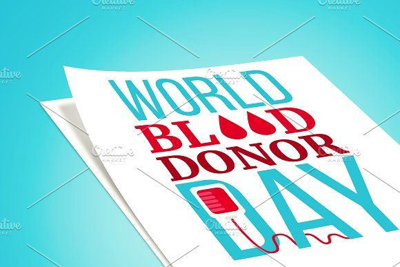 Blood Donor Day Banner by barsrsind on @creativemarket