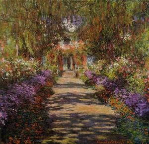 Pathway In Monets Garden At Giverny  Claude Oscar Monet