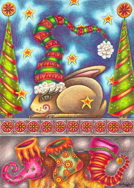 Mandy Saile - Creating Joyfully Whimsical Coloured Pencil Art Whiles Living With Happy House Rabbits: Oldie Thyme