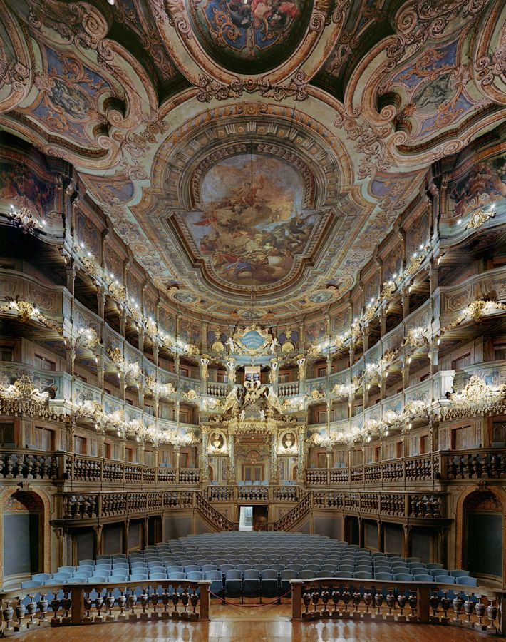 Margravial Opera House - Bayreuth, Germany.  Can you imagine the acoustics in here?