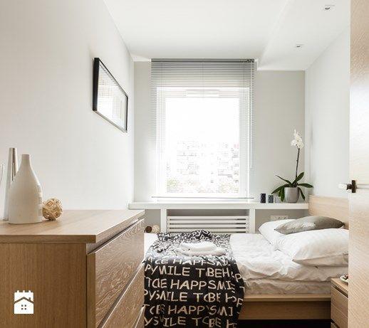 Apartament skandynawski - Aviator - Gdańsk - Mała sypialnia małżeńska, styl nowoczesny - zdjęcie od Anna Serafin Architektura Wnętrz