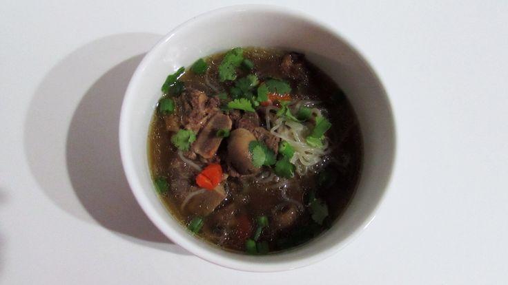 AIP Paleo Beef Neck Bone Noodle Soup Recipe