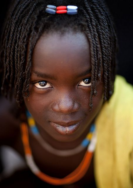 Mudimba tribe girl - Combelo village, Angola, on a wedding day.    photography by Eric Lafforgue