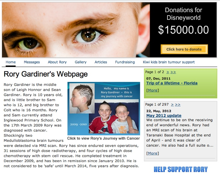 www.rorygardiner.co.nz Read about Rorys journey