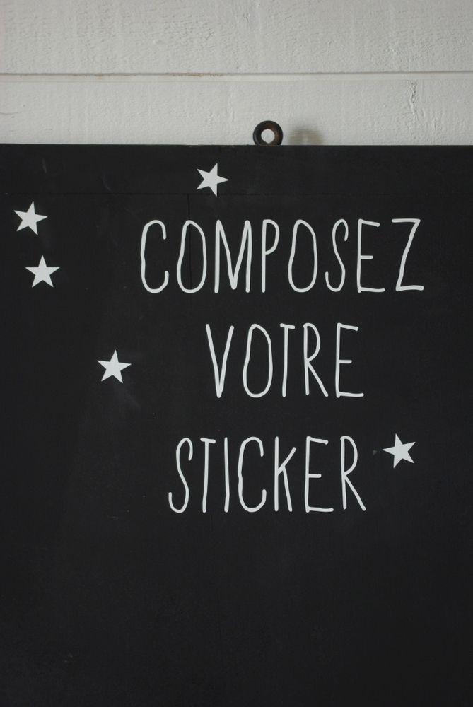 Image of stickers personnalisés BLANCS à partir de 2,10 euros