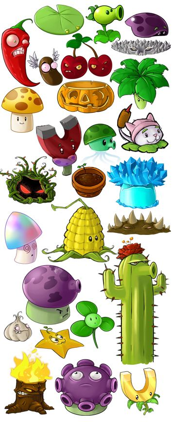 personagens PLANTS VS ZOMBIES