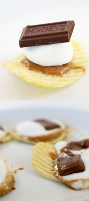 Peanut Butter Potato Chip S'mores ~ sweet and salty goodness!