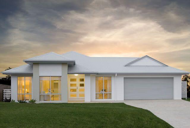 Surfmist render - Shale grey garage