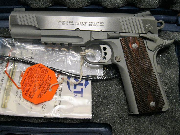 Colt 1911 Gov XSE Rail Gun Stainless 9mm, 2mags O1072RG NEW – Ellis County Firearms – Waxahachie, TX.