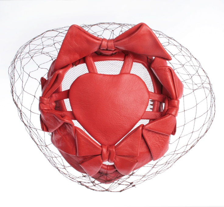 Bes- Ben Leather Heart Hat