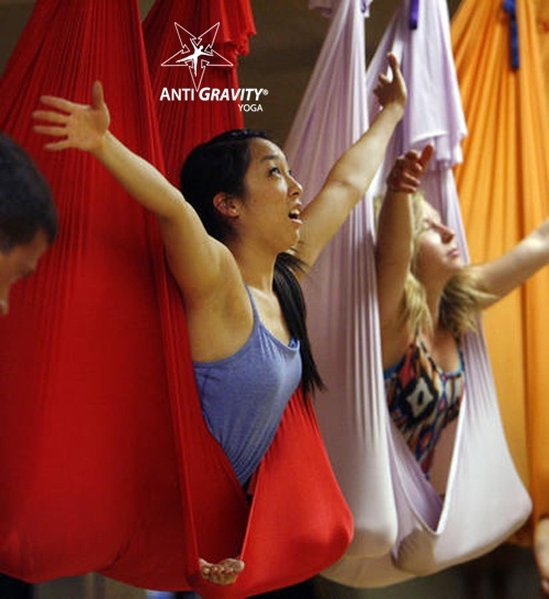The only college in the world with AntiGravity Aerial Yoga! Westminster College Utah!
