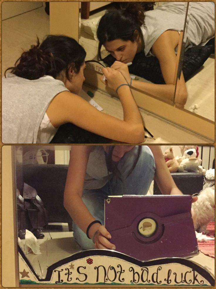 Your mirror is broken? Bad Luck.  #NOT❗️